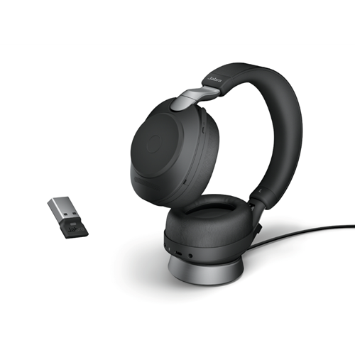 Jabra Evolve2 85 Link380a UC Stereo Stand Black