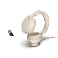 Jabra Evolve2 85 Link380a UC Stereo Stand Beige
